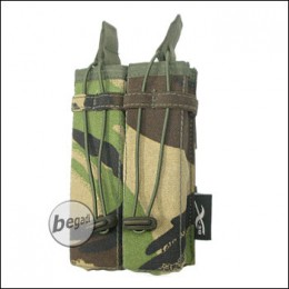 BE-X Open Mag Pouch, double, für MP5 - woodland DPM
