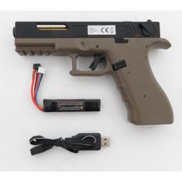 "Cyma CM.131 ""Gen.3"" AEP inkl. Mosfet, LiPo Akku & USB Ladegerät (Reddot ready) -Dual Color TAN / schwarz- < 0,5 J."