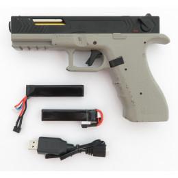 "Cyma CM.131 ""Gen.3"" AEP inkl. Mosfet, LiPo Akku & USB Ladegerät (Reddot ready) -steingrau / schwarz- < 0,5 J. + GUN fet Mosfet"