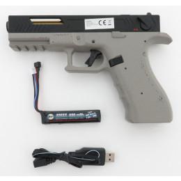 "Cyma CM.131 ""Gen.3"" AEP inkl. Mosfet, LiPo Akku & USB Ladegerät (Reddot ready) -steingrau / schwarz- < 0,5 J."