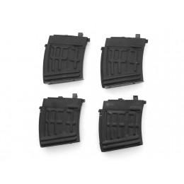 2x komplette und 2x defekte AIM Top SVD Magazine 22 Schuss (Gas-Type/Co2) schwarz