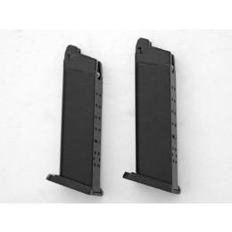 2x Magazin für WE GForce 17 GBB Serie, schwarz