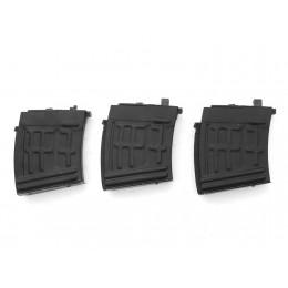 2x AIM Top SVD Magazine 22 Schuss (Gas-Type) schwarz + 1 Magazin defekt, Materialspender