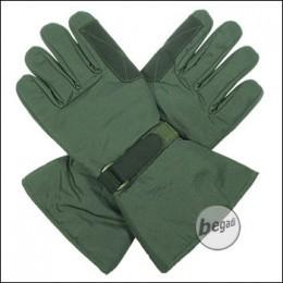 BE-X Mikrofaser Handschuhe, lange Stulpe, Olive