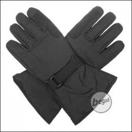 BE-X Mikrofaser Handschuhe, lange Stulpe, Schwarz