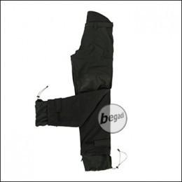 BE-X Softshellhose, mit Fleecefutter, Schwarz
