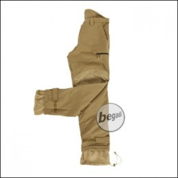 BE-X Softshellhose, mit Fleecefutter, Tan
