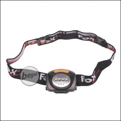 Head lamp, 4 LED white, 3 red