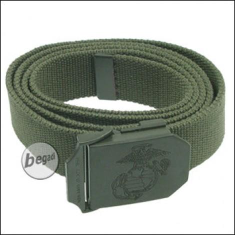 USMC Web belt, 35 mm, OD green