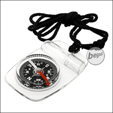 Fibega Compass with Whistle and Neckband, semi-transparent