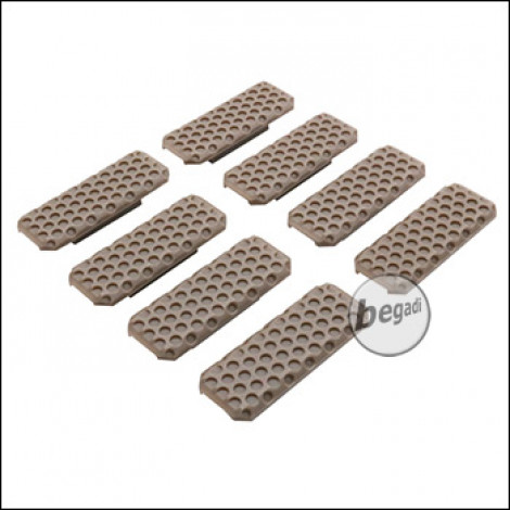 "Begadi M-LOK Rail Cover Set ""Type 3"", flat, 8 pieces -TAN-"