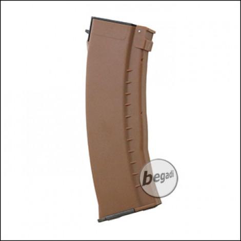 E&L AK 74N Midcap Magazine, plastic brown (120 BBs)