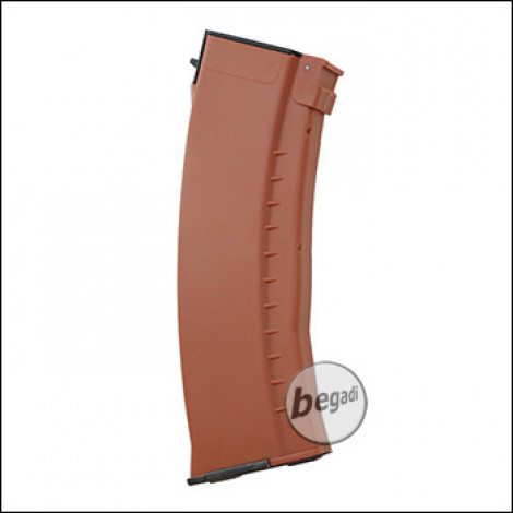 E&L AK 74N Midcap Magazine, Plastic -orange- (120 BBs)