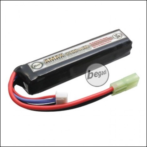 "Begadi ""AMAX"" LiPo Battery 11.1V 1100mAh 20C ""Compact Stick"" with Mini TAM"