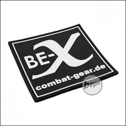 """BE-X 3D Rubber Patch """"BE-X Combat Gear"""", with Hook & Loop - black"""