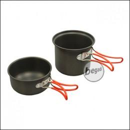 """Fibega Cooking Kit """"Solo"""", made of anodized aluminium"""