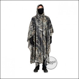 """BE-X """"Natural Blind© 3D"""" Camo Poncho made from mesh, 260cm x 140cm - brown"""