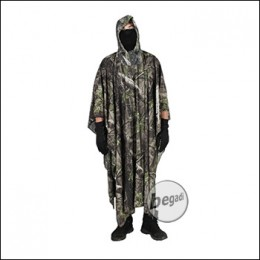 """BE-X """"Natural Blind© 3D"""" Camo Poncho made from mesh, 260cm x 140cm - green"""