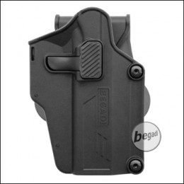 "BEGADI ""Multi Fit"" Hartschalen - Holster mit Paddle, schwarz"