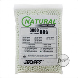 3.000 GEOFFS Natural Precision Bio -TRACER- BBs 6mm 0,32g