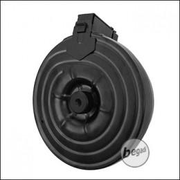 """AIM TOP AK Drum Mag High Cap Magazine """"Lipo Mod"""" (2500 BBs) incl. Turnigy Battery"""