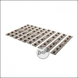 Battleaxe URX4 / KeyMod Handguard Rail Panel Set, TAN (Pack of 10)