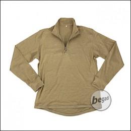 "BE-X FronTier One Baselayer Shirt ""Bamboo"", long, tan"