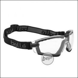 "Bollé ""Cobra"" safety glasses, with foam and headband, MilSpec certified BSSI design, transparent (PSSCOBR064)"