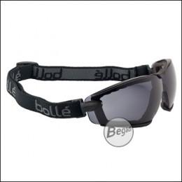 """Bollé Schutzbrille """"Cobra"""", mit Schaumstoff & Kopfband, MilSpec zertifizierte BSSI Ausführung, smoke (PSSCOBR443)"""