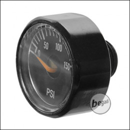 EPeS 150PSI manometer for HPA regulators, with 1/8 NPT connection -black- [E037-150]