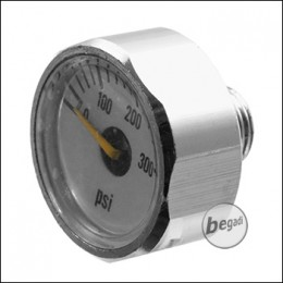 """EPeS 300psi pressure gauge for HPA regulators, with 1/8"""" NPT connection [E037]"""