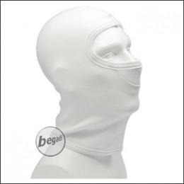 BE-X Balaclava, 1 hole, cotton, with net, white