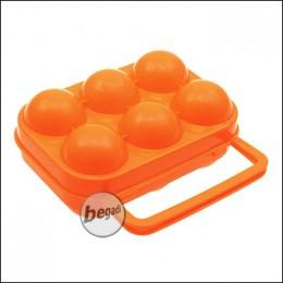 FIBEGA Eggs box for 6 eggs, with handle - orange