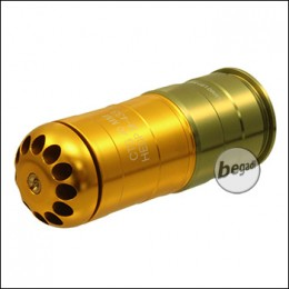 S&T HEDP M-433 40mm Grenade, 120 BBs, gold/green (only 18yrs.+)