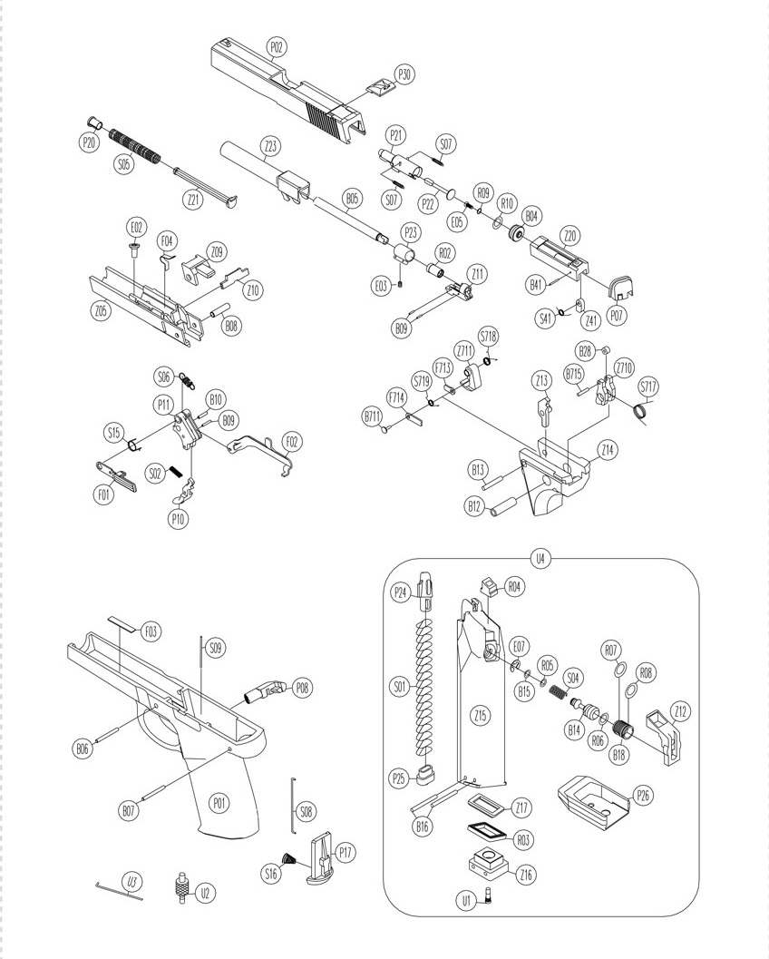 Fuse Box Explosion : Walther p exploded diagram wiring and fuse box